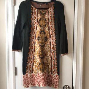 Global green beaded dress